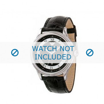 Armani horlogeband AR-0564 Croco leder Zwart 21mm