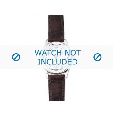 Armani horlogeband AR-0600 Leder Donkerbruin 18mm