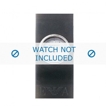 Armani horlogeband AR-1001 Rubber Grijs 24mm