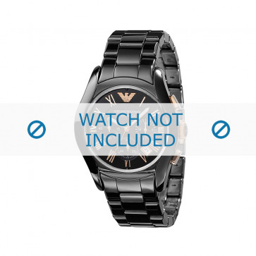 Armani horlogeband AR1410 Keramiek Zwart 22mm