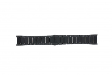 Armani horlogeband AR1451 Keramiek Zwart 24mm