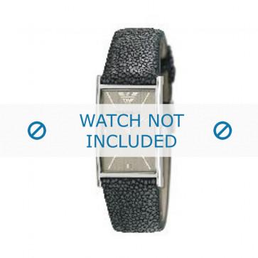 Armani horlogeband AR-2409 Leder Grijs 22mm