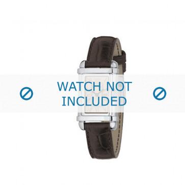 Armani horlogeband AR0260 Leder Bruin 14mm