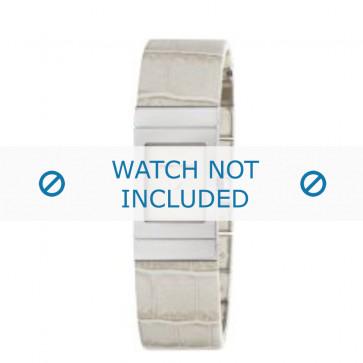 Armani horlogeband AR-5482 Croco leder Cream wit 18mm