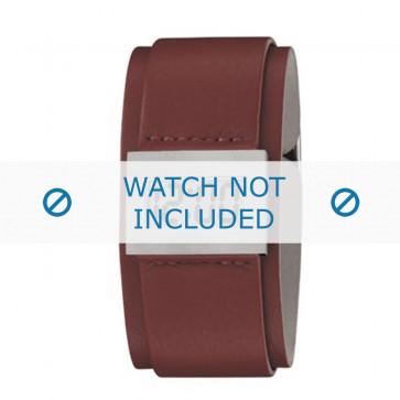 Armani horlogeband AR-7001 Leder Cream wit
