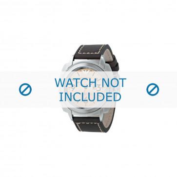 Horlogeband Armani AR5831 Leder Bruin 23mm