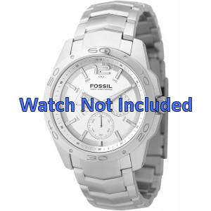Fossil horlogeband BQ9327 / BQ9328 Staal Zilver 22mm