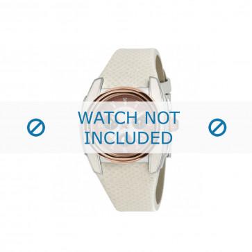 Breil horlogeband BW0383 / F260053231 / BW0384 Leder Wit 25mm