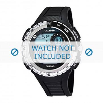 Horlogeband Calypso K5662-1 Rubber Zwart 28mm