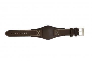 Fossil horlogeband CH2599 Leder Donkerbruin 22mm