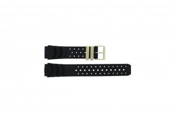 Overige merken horlogeband CIT3MG Rubber Zwart 20mm