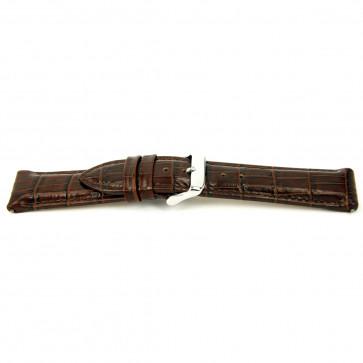 Horlogeband I035 XL Leder Bruin 24mm + standaard stiksel