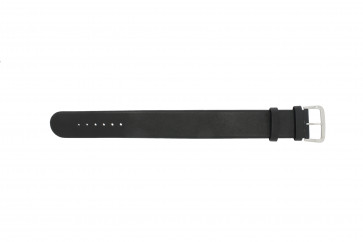 Danish Design horlogeband IV13Q676 / IV12Q676 Leder Zwart 24mm
