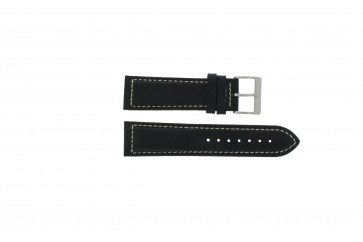 Davis horlogeband BB0450 / BB0454 Leder Zwart 24mm