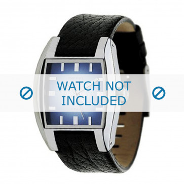 Horlogeband Diesel DZ1032 Leder Zwart 17mm