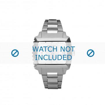 Diesel horlogeband DZ1366 Roestvrij staal (RVS) Zilver 25mm