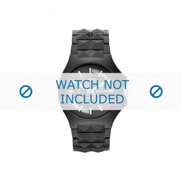 Diesel horlogeband DZ1646 Kunststof / Plastic Zwart 26mm