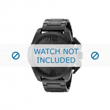 Diesel horlogeband DZ4362 Roestvrij staal (RVS) Zwart 24mm