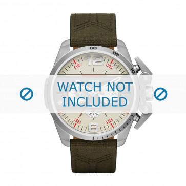 Horlogeband Diesel DZ4389 Canvas Groen 24mm