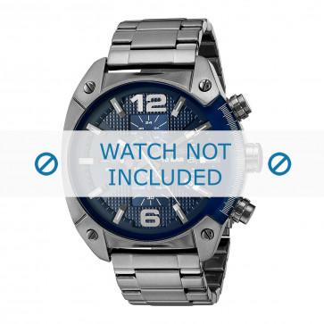 Diesel horlogeband DZ4412 Staal Grijs 22mm