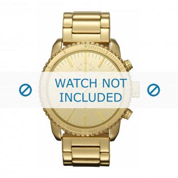 Diesel horlogeband DZ5345 Staal Goud 22mm