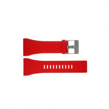 Diesel horlogeband DZ7198 Silicoon Rood 30mm