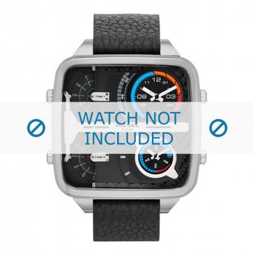 Diesel horlogeband DZ7283 Leder Zwart 24mm