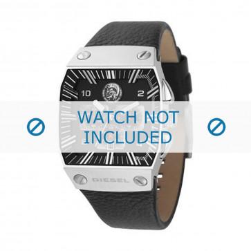 Diesel horlogeband DZ9013 Leder Zwart 30mm