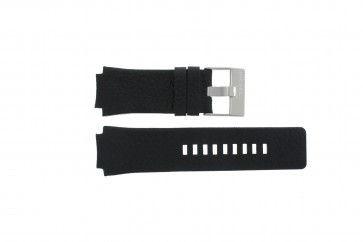 Diesel horlogeband DZ-1109 Leder Zwart 20mm