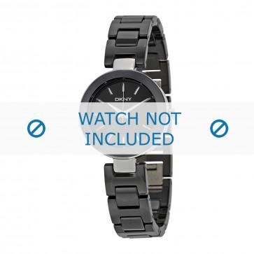 DKNY horlogeband NY2355 Keramiek Zwart 12mm