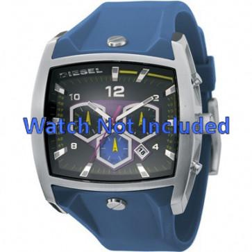 Diesel horlogeband DZ4164 Silicoon Blauw 28mm