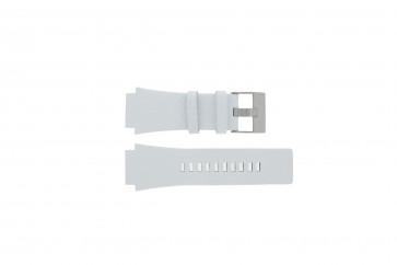 Horlogeband Diesel DZ1449 Leder Wit 25mm