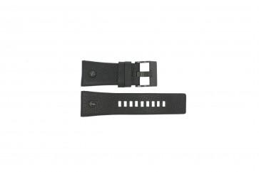Diesel horlogeband DZ7127 Leder Zwart 29mm