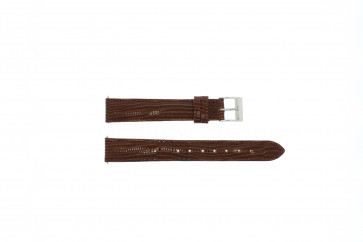 Echt lederen horloge band lizard croco bruin 16mm EX-E360