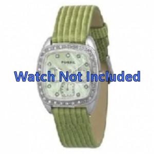 Horlogeband Fossil ES1010 Leder Groen 18mm