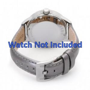 Fossil AM4337 horlogeband zilver leder