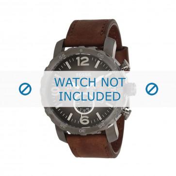 Fossil horlogeband JR-1424 Leder Bruin 24mm