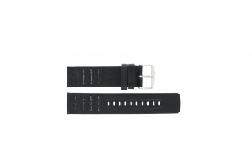 Horlogeband Fossil CH2493 / CH2494 Leder Zwart 22mm