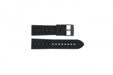 Horlogeband Fossil FS4487 / FS4628 / FS4605 / JR1425 Silicoon Zwart 24mm