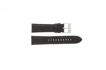 Fossil horlogeband FS4672 Leder Zwart 22mm + standaard stiksel