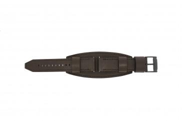 Fossil horlogeband JR1365 Leder Donkerbruin 22mm