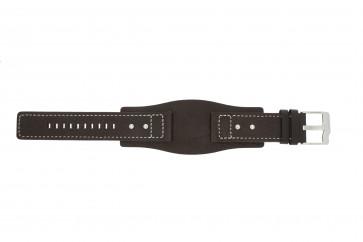 Fossil horlogeband JR9990 Leder Bruin 24mm
