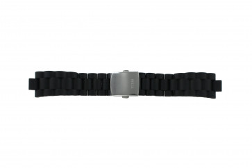 Guess horlogeband I15056L1 / I11040L1 / I11005G2  Rubber Zwart 22mm