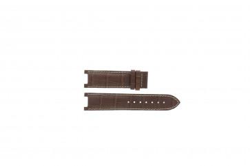 Guess horlogeband GC31000G1 / GC31000G / X44001G1 / I31000G1 / i31000G1 Leder Bruin 21mm + wit stiksel