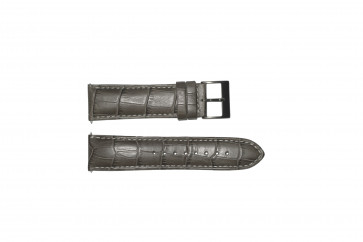 Horlogeband Guess W12089G2 / W0079G1 Leder Grijs 22mm