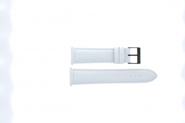 Guess horlogeband W18547G2 Carbon Wit 22mm + wit stiksel