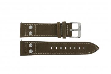 Horlogeband H820 Leder Bruin 22mm