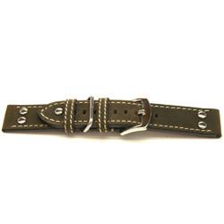 Echt leder horlogeband bruin 22mm / H393