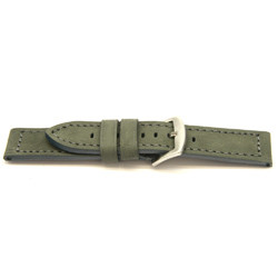 Echt leder horlogeband grijs 24mm / I814