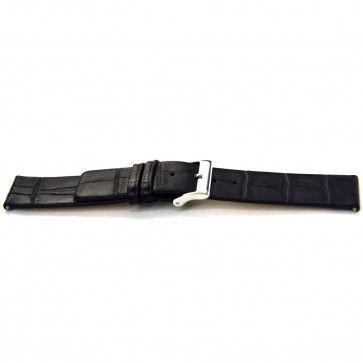 Buffalo kalf horlogeband zwart 20mm